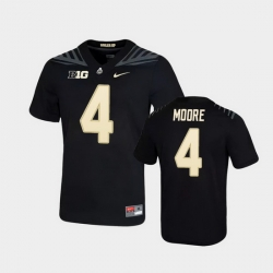 Men Purdue Boilermakers Rondale Moore Game Football Black Jersey