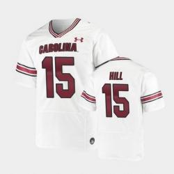 Men South Carolina Gamecocks Collin Hill Replica White Premiere Football Jersey