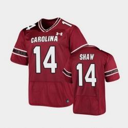 Men South Carolina Gamecocks Connor Shaw Replica Garnet Football Jersey