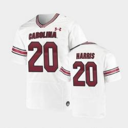 Men South Carolina Gamecocks Kevin Harris Replica White Premiere Football Jersey