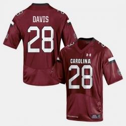 Men South Carolina Gamecocks Mike Davis College Football Cardinal Jersey