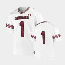 Men South Carolina Gamecocks Replica White Premiere Football Jersey