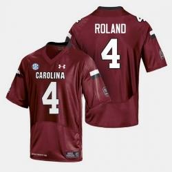 Men South Carolina Gamecocks Shaq Roland College Football Cardinal Jersey
