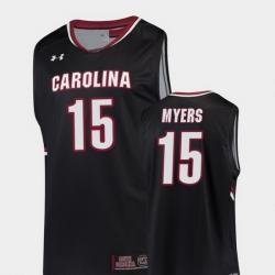 Men South Carolina Gamecocks Wesley Myers Black Replica College Basketball Jersey