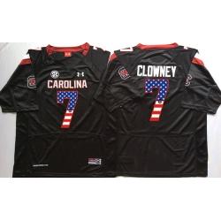 South Carolina Gamecocks 7 Jadeveon Clowney Black USA Flag College Jersey