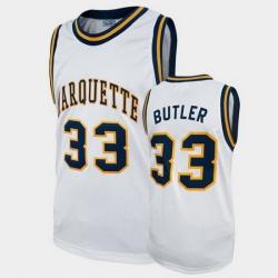 Men Marquette Golden Eagles Jimmy Butler College Basketball White Alumni Jersey