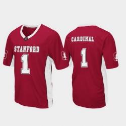 Men Stanford Cardinal 1 Cardinal Max Power Football Jersey
