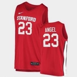 Men Stanford Cardinal Brandon Angel College Basketball Red 2020 21 Jersey