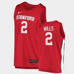 Men Stanford Cardinal Bryce Wills College Basketball Red 2020 21 Jersey