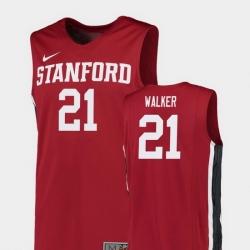 Men Stanford Cardinal Cameron Walker Red Replica College Basketball Jersey