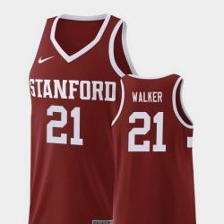 Men Stanford Cardinal Cameron Walker Wine Replica College Basketball Jersey
