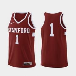 Men Stanford Cardinal Cardinal Replica College Basketball Nike Jersey