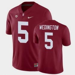 Men Stanford Cardinal Connor Wedington College Football Cardinal Game Jersey