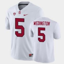 Men Stanford Cardinal Connor Wedington Game White College Football Jersey
