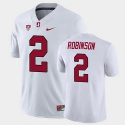 Men Stanford Cardinal Curtis Robinson Game White College Football Jersey