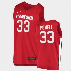 Men Stanford Cardinal Dwight Powell College Basketball Red 2020 21 Jersey