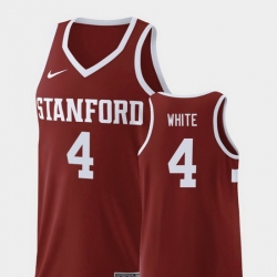 Men Stanford Cardinal Isaac White Wine Replica College Basketball Jersey