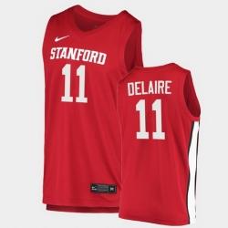 Men Stanford Cardinal Jaiden Delaire College Basketball Red 2020 21 Jersey