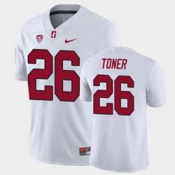 Men Stanford Cardinal Jet Toner Game White College Football Jersey