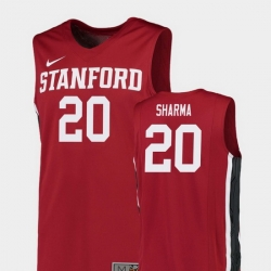 Men Stanford Cardinal Josh Sharma Red Replica College Basketball Jersey
