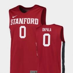 Men Stanford Cardinal Kezie Okpala Red Replica College Basketball Jersey