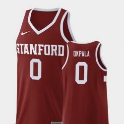 Men Stanford Cardinal Kezie Okpala Wine Replica College Basketball Jersey