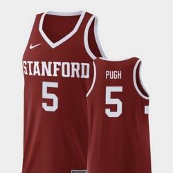 Men Stanford Cardinal Kodye Pugh Wine Replica College Basketball Jersey