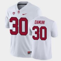 Men Stanford Cardinal Levani Damuni Game White College Football Jersey
