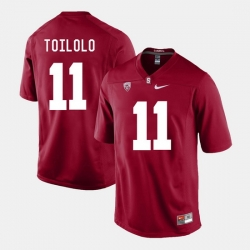 Men Stanford Cardinal Levine Toilolo College Football Cardinal Jersey