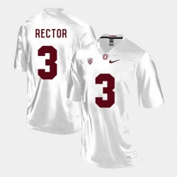 Men Stanford Cardinal Michael Rector College Football White Jersey