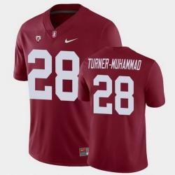 Men Stanford Cardinal Salim Turner Muhammad College Football Cardinal Game Jersey