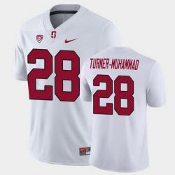 Men Stanford Cardinal Salim Turner Muhammad Game White College Football Jersey