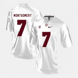 Men Stanford Cardinal Ty Montgomery College Football White Jersey