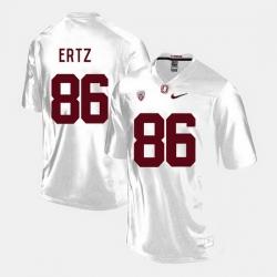 Men Stanford Cardinal Zach Ertz College Football White Jersey