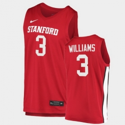 Men Stanford Cardinal Ziaire Williams College Basketball Red 2020 21 Jersey