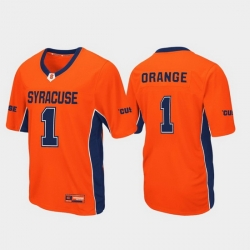 Men Syracuse Orange 1 Orange Max Power Football Jersey