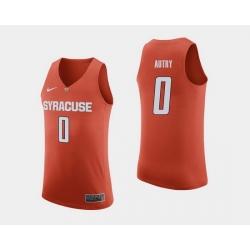 Men Syracuse Orange Adrian Autry Orange College Basketball Jersey