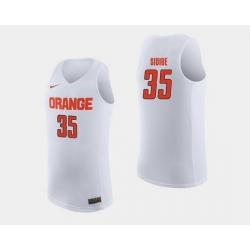 Men Syracuse Orange Bourama Sidibe White College Basketball Jersey