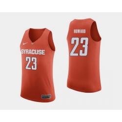 Men Syracuse Orange Frank Howard Orange College Basketball Jersey