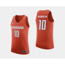 Men Syracuse Orange Howard Washington Orange College Basketball Jersey