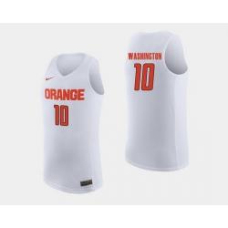 Men Syracuse Orange Howard Washington White College Basketball Jersey
