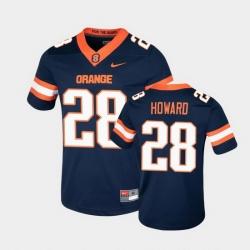 Men Syracuse Orange Jarveon Howard College Football Game Navy Jersey