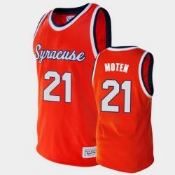 Men Syracuse Orange Lawrence Moten Alumni Orange College Baketball Jersey