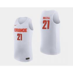 Men Syracuse Orange Marek Dolezaj White College Basketball Jersey
