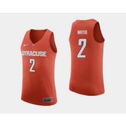Men Syracuse Orange Matthew Moyer Orange College Basketball Jersey