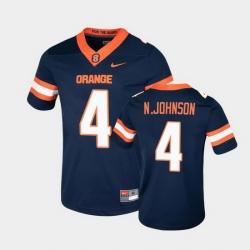Men Syracuse Orange Nykeim Johnson College Football Game Navy Jersey