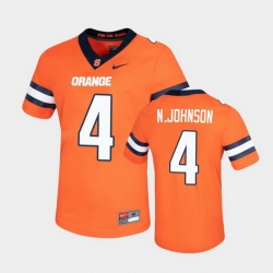 Men Syracuse Orange Nykeim Johnson Untouchable Game Orange Jersey