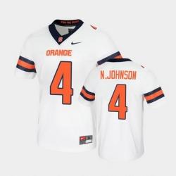 Men Syracuse Orange Nykeim Johnson Untouchable Game White Jersey
