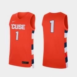 Men Syracuse Orange Orange Replica College Baketball Nike Jersey