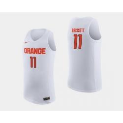 Men Syracuse Orange Oshae Brissett White College Basketball Jersey